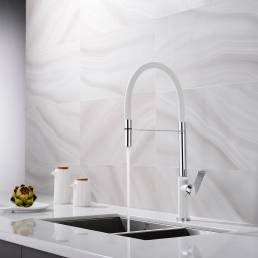 KINETIC REACTOR Domestic faucet white